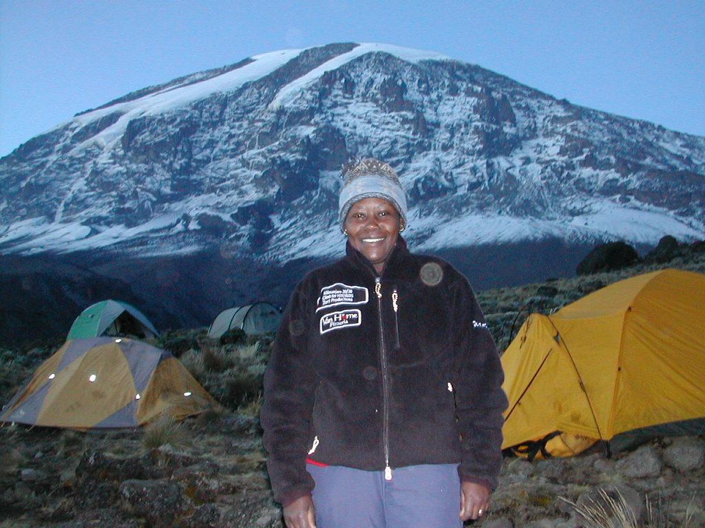 Wanjira at Campsite